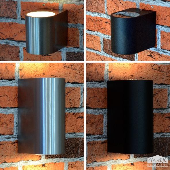 wandleuchte wandlampe up down edelstahl alu 1267 gu10. Black Bedroom Furniture Sets. Home Design Ideas