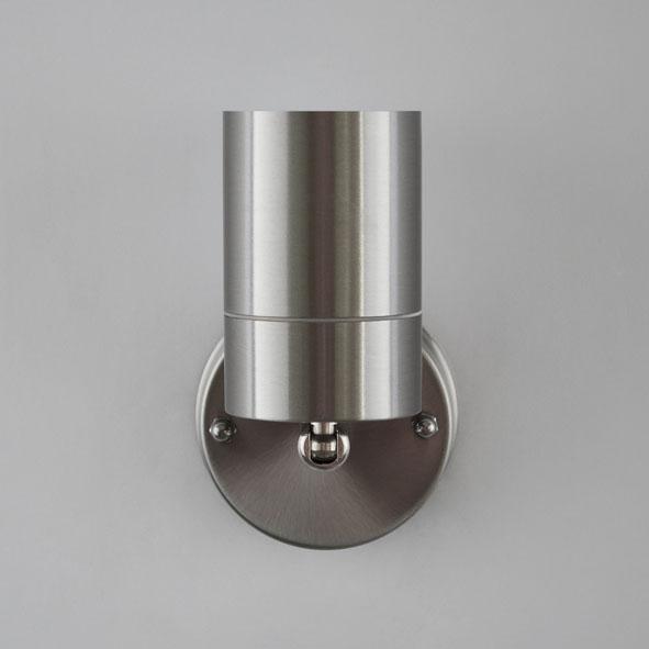 au enleuchte gu10 wandlampe edelstahl wandleuchte. Black Bedroom Furniture Sets. Home Design Ideas
