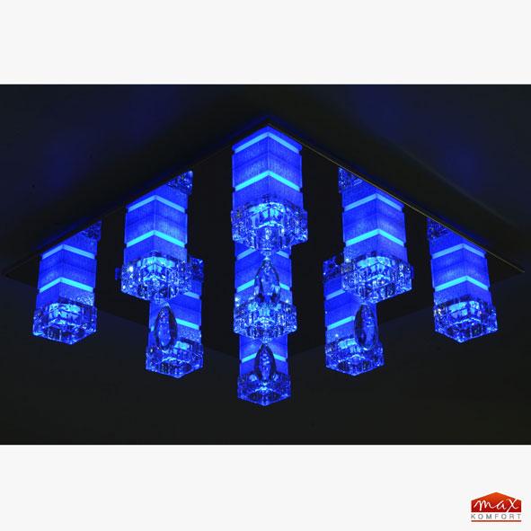 led deckenlampe deckenleuchte lampe leuchte wohnzimmerlampe mit fernbedienung ebay. Black Bedroom Furniture Sets. Home Design Ideas