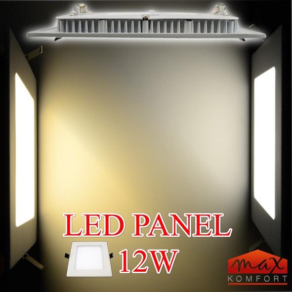 led einbaustrahler panel einbauleuchte spot sehr flach 12w eckig lampe 2835 04. Black Bedroom Furniture Sets. Home Design Ideas
